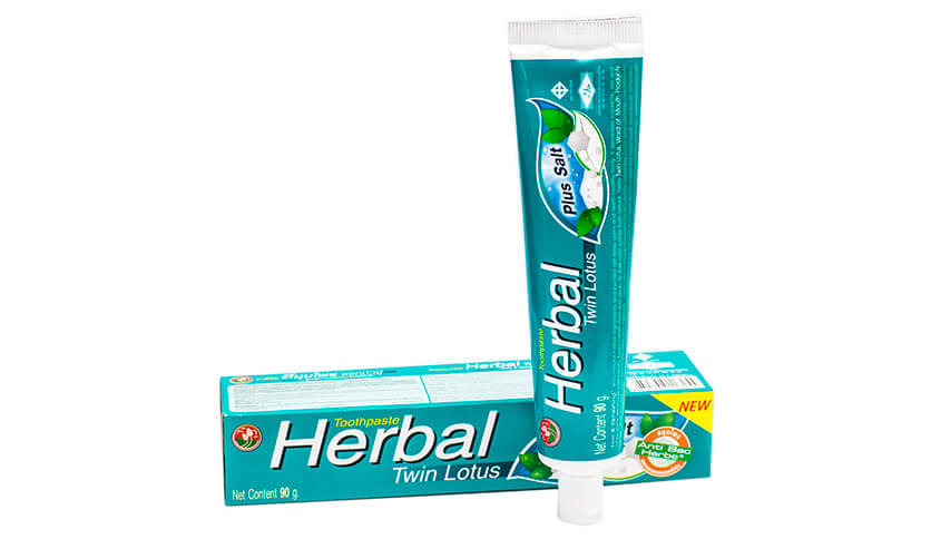 Зубная паста Twin Lotus Herbal Plus Salt