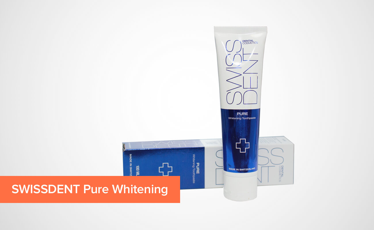 Фото отбеливающей зубной пасты SWISSDENT Pure Whitening