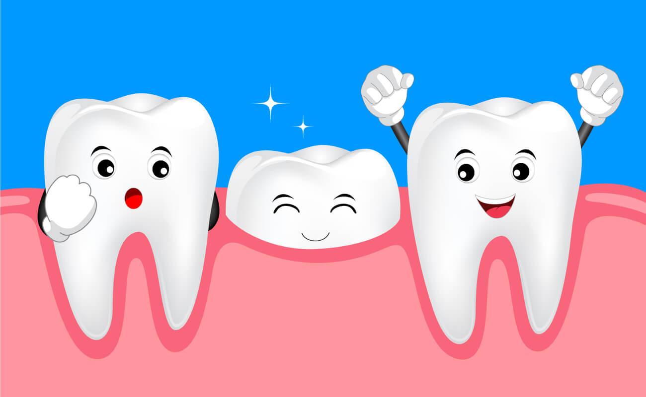 Не до конца прорезавшийся зуб в картинках
