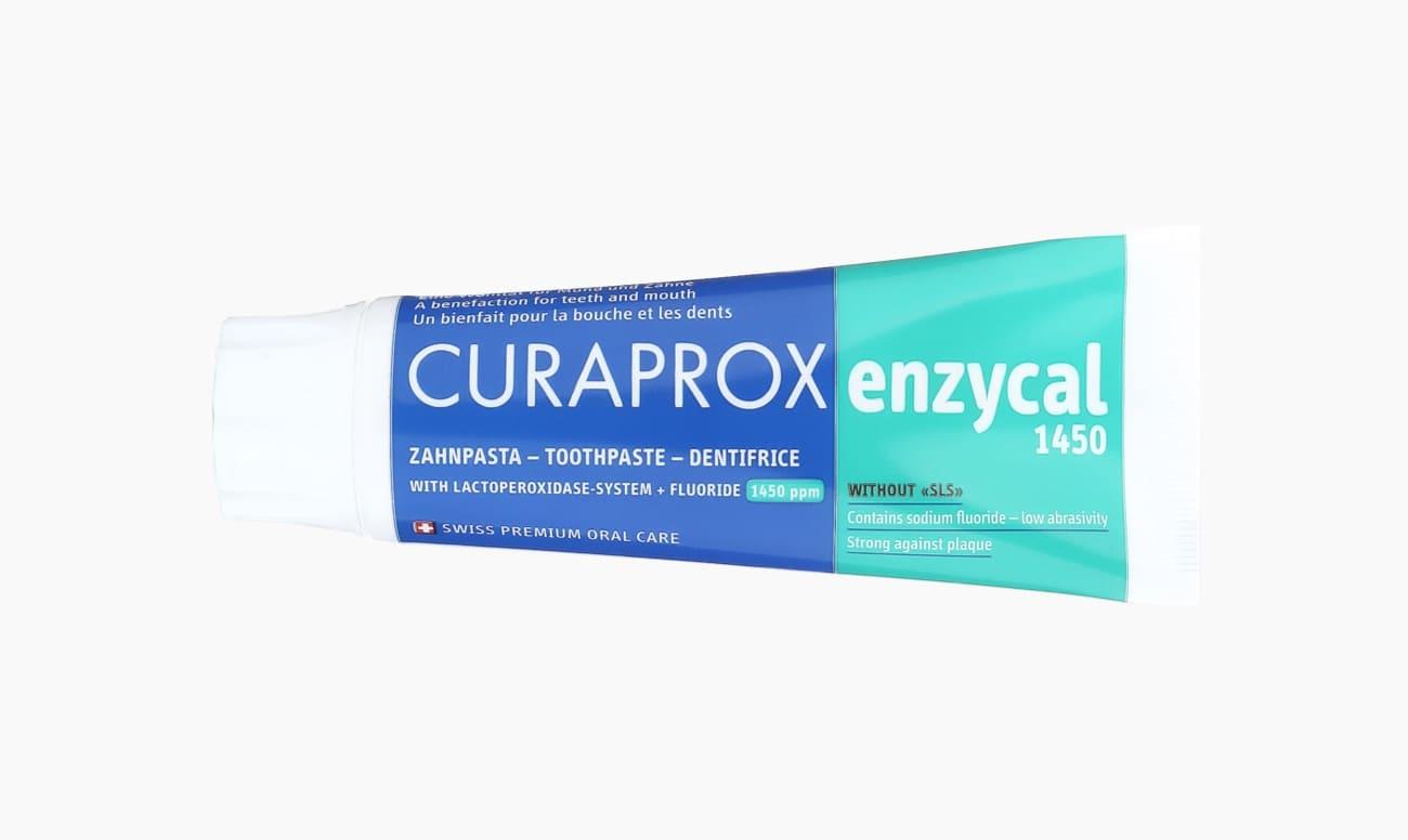 Фото зубной пасты с фтором CURAPROX enzycal 1450