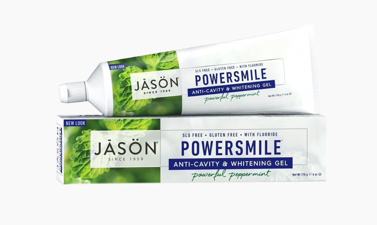 Фото зубной пасты JASON Poversmile «Перечная мята»