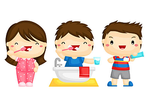 Чистка зубов детям